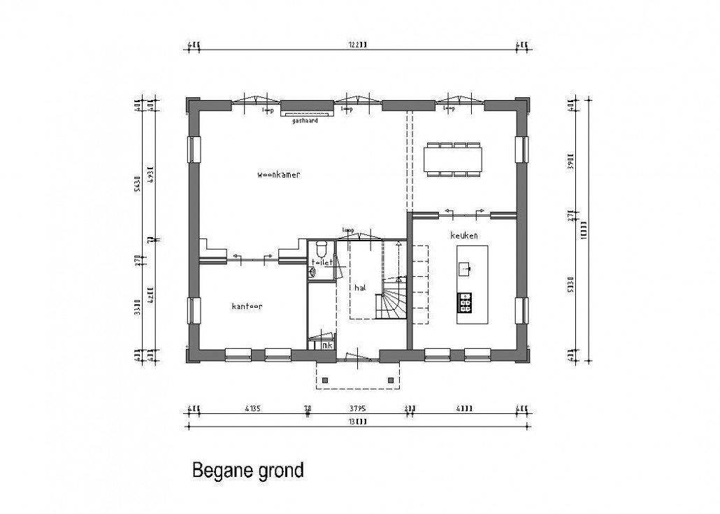 Keuken plattegrond voorbeelden excellent indeling for Keuken tekenen programma